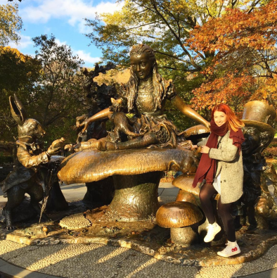 Me at the Alice In Wonderland statue in Central Park, NYC | November 2017
